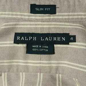 Like New! Woman's Ralph Lauren Violet/white sz 4
